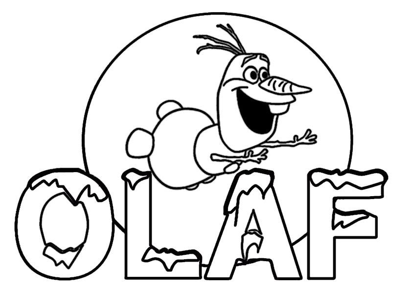 Olaf 1 Ausmalbilder Eiskönigin