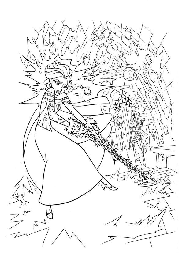 ausmalbilder eiskönigin elsa-4
