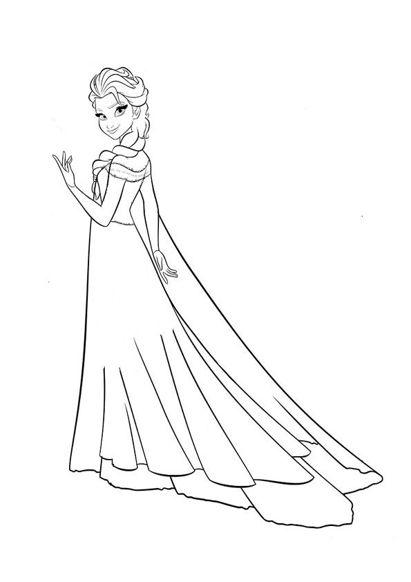 Elsa-6 | Ausmalbilder Eiskönigin