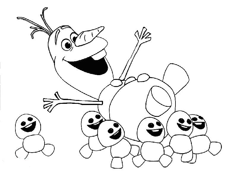 Olaf 4 Ausmalbilder Eiskönigin