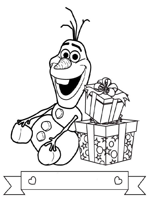 Olaf 9 Ausmalbilder Eiskonigin
