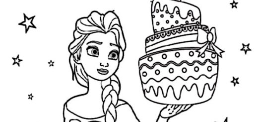aausmalbilder eiskönigin geburtstag -6