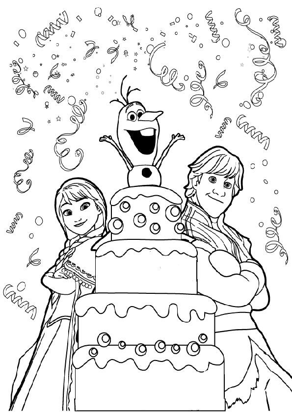 Geburtstag 10 Ausmalbilder Eiskonigin