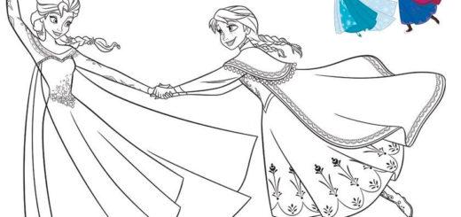 aausmalbilder eiskönigin malen modell zum drucken und malen eiskönigin malen modell-1