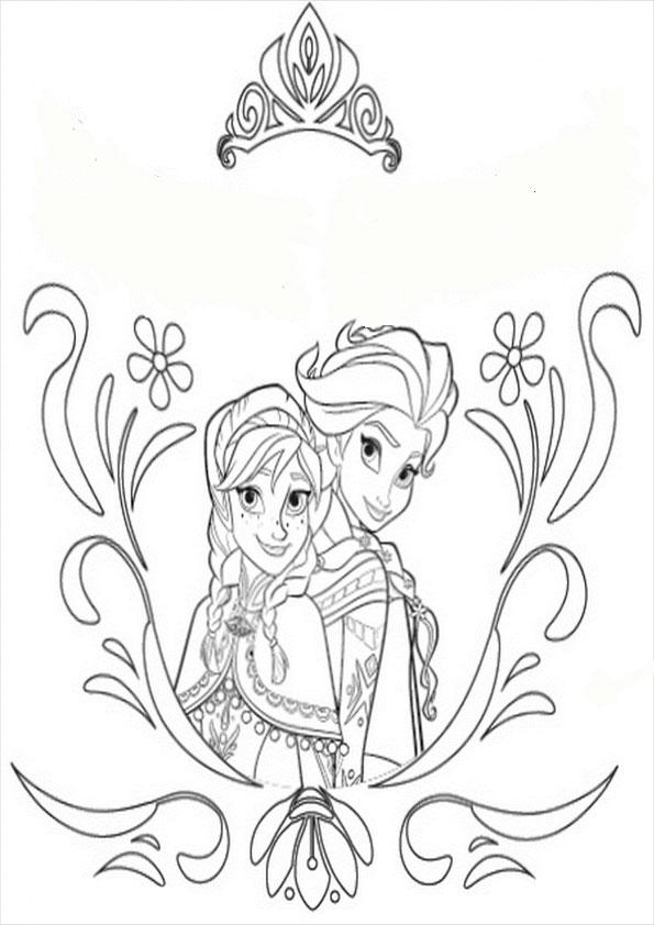 aausmalbilder eiskönigin, zum drucken und malen Eiskönigin