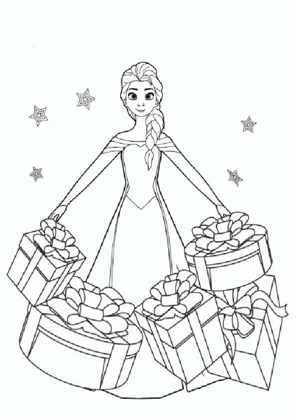 aausmalbilder eiskönigin weihnachten-3