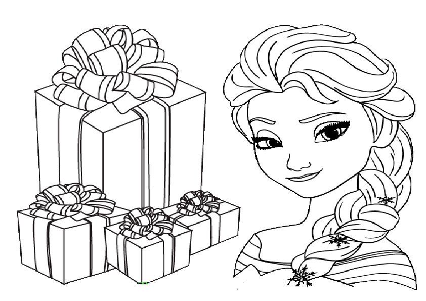 aausmalbilder eiskönigin weihnachten-4