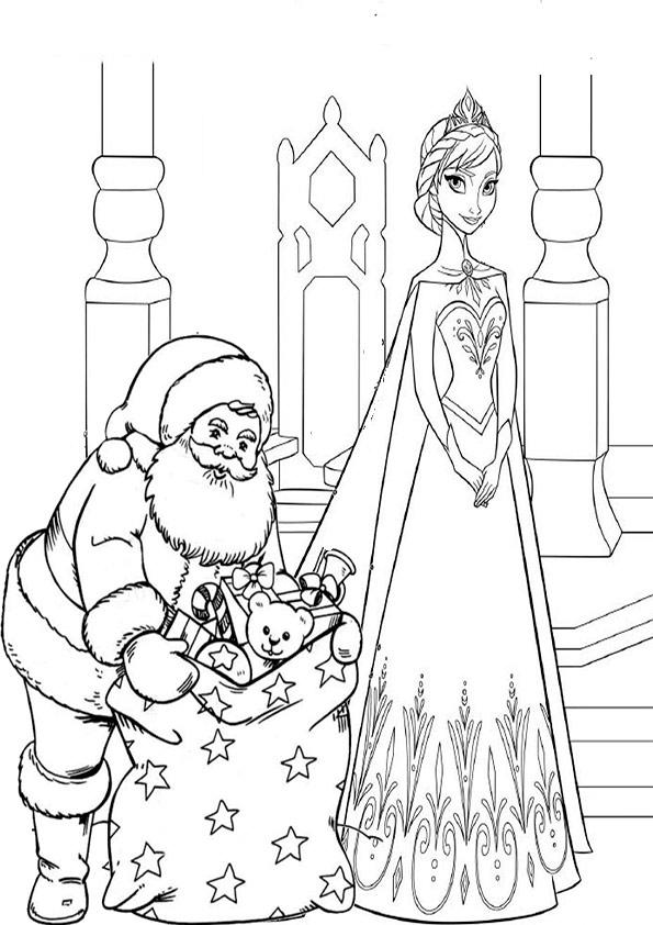 aausmalbilder eiskönigin weihnachten-8
